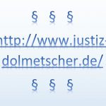 """Link-Info """"www.justiz-dolmetscher.de"""""""