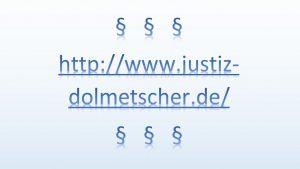 Datenbank der Landesjustizverwaltungen über Dolmet…