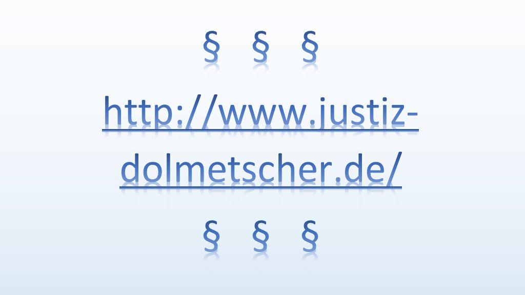 Datenbank der Landesjustizverwaltungen über Dolmetscher und Übersetzer
