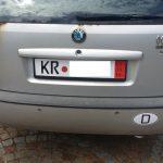 Auto mit Exportkennzeichen / Ausfuhrkennzeichen