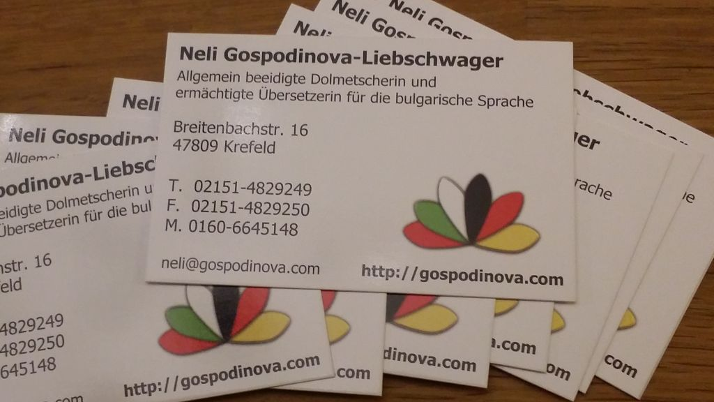 Flyer & VCARD Neli Gospodinova-Liebschwager